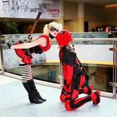 This is too freaking cute....Harley and Deadpool :D