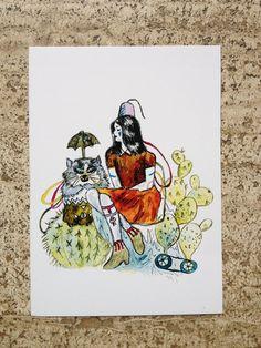 Cartolina cactus di theberingsea su Etsy