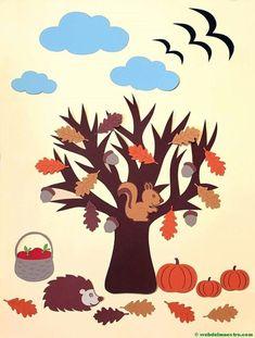 fall art projects for kids mevsim_almalar_aalar Autumn Crafts, Fall Crafts For Kids, Autumn Art, Autumn Trees, Art For Kids, Four Seasons Art, Fall Classroom Decorations, Decoration Creche, Fall Art Projects