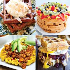Do you have a waffle maker lying around that just doesn't get the use it should? Try these wild and healthy waffle recipes for breakfast, lunch, dinner...
