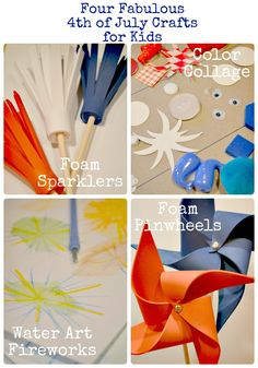 4th of July Crafts for Kids : Want to do the watercolor fireworks!
