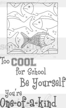 """""""Too Cool for School"""" digi stamp by Diana Garrison on squigglefly.com"""