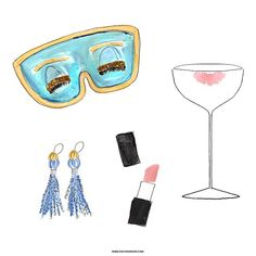 I watched #breakfastattiffanys for the first time ever over the weekend and am obsessed! If you're also a fan, visit the blog (evelynhenson.com/blogs/behindthepalette) to read 5 ways to live Holly Golightly's #brightlydecoratedlife (hint: lipstick and milk from champagne glasses are a few things that top the list!) #fashionillustration #watercolor #audreyhepburn #preppy #flashesofdelight