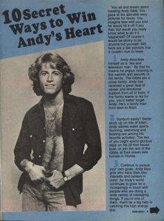 Andy Gibb in Teen Beat 1979