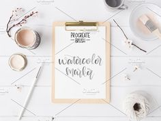 Procreate - Watercolor Markers by Lefty Script on @creativemarket