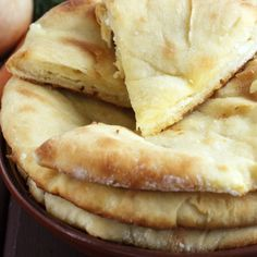 This flatbread recipe is the perfect side to a nice curry or dip.. Flatbread Recipe from Grandmothers Kitchen.