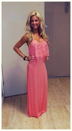 .summer outfits womens fashion clothes style apparel clothing closet ideas  long maxi pink dress