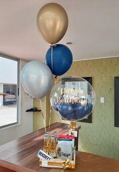 Balloon Flowers, Balloon Bouquet, Balloon Arrangements, Balloon Decorations, Birthday Box, Birthday Gifts, Best Small Business Ideas, Gift Baskets For Him, Flower Box Gift