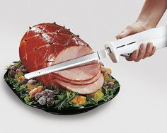 Sharp Electric Carving Knife Turkey Ham Bread Slice Corded Stainless Steel Blade for sale online Best Electric Knife, Easy Slice, Turkey Ham, Sandwich Cake, Best Meat, Chef Knife, Kitchen Knives, Food To Make, Carving