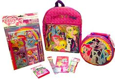 My Little Pony Backpack, Lunch Box, and School Supply Bundle  - Click image twice - See a larger selection of little girls backpacks at http://kidsbackpackstore.com/product-category/little-girls-backpack/ - kids, juniors, back to school, kids fashion ideas, school supplies, backpack, bag , teenagers, girls, boys, gift ideas