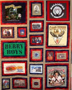 T-shirt quilt with uneven sizes T-shirt Quilts, Panel Quilts, Easy Quilts, Quilting Tutorials, Quilting Projects, Quilting Designs, Quilting Ideas, Sewing Projects, Book Quilt