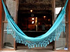 Turquoise hammock - a little bit of the South American way up north.