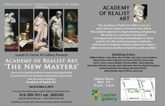 The New Masters at the Carrier Gallery! Opening Night Reception October 6, 2014
