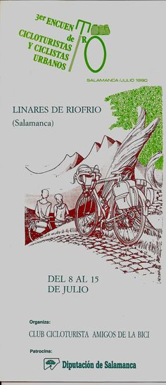 III Encuentros Cicloturistas de ConBici. Salamanca, 1990