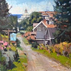 Anne Blair Brown is most excited by artworks that leave something to the viewer's imagination. And no matter the subject, she is intent on conveying an impression of a scene in her works. Abstract Landscape, Landscape Paintings, Blair Brown, Monhegan Island, Paintings I Love, Oil Paintings, Southwest Art, Traditional Paintings, Plein Air