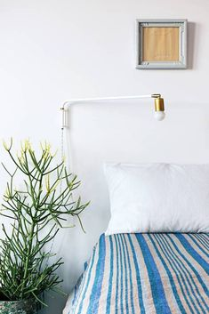 """""""Bedrooms should be really calm,"""" Fox says. """"Just the bare essentials: a bed, a bookshelf, and plants."""""""