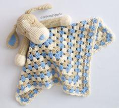 Colcha con perritos o manta de apego tejida a crochet para bebés y niños... paso a paso!