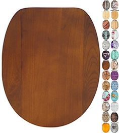 Soft Close Toilet Seat | Wide choice of wooden Toilet Seats | Stable Hinges | Easy to mount (Old Tree)