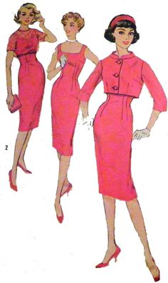 1960s Fitted Wiggle Dress and Jackets/Boleros by retroactivefuture, $20.00