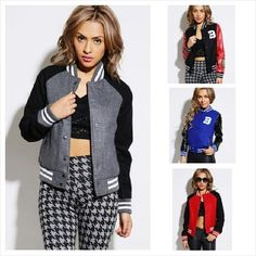 LOTOgirl Sexy Varsity Jacket. Girls really do upgrade the varsity look, sorry boys♡♥. @Instag_app #fashion #style #stylish #love #me #cute #photooftheday #nails #hair #beauty #beautiful #instagood #instafashion #pretty #girly #pink #girl #girls #eyes #model #dress #skirt #shoes #heels #styles #outfit #purse #jewlery #shopping - @lotogirlshop- #webstagram