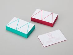 Edge painted business cards designed by Patrick Fry for May Concepts.