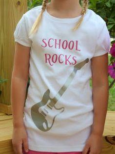 School Rock's Back to School Tshirt using iron on vinyl