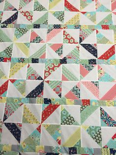 Pedal pushers fabric scrappy pinwheel quilt top