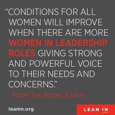 More women in leadership roles