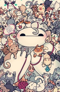 Baymax love kittys