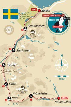 Meerdaagse trekking en wildkamperen op de Kungsleden tussen Abisko en Nikkaluokta in het noorden van Zweden tussen Abisko en het Samen dorp Nikkaluokta.
