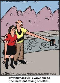 En el futuro no nos harán falta los palos para #selfies, jejejeje #humor #caricatura #tecnologia #smartphones