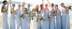 White Runway bridal party