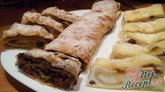 Křehký štrúdl z těsta ze zakysané smetany Bread And Pastries, Strudel, Easter Recipes, Dessert Recipes, Czech Recipes, Ethnic Recipes, Sweet Recipes, Sweet Tooth, Bakery