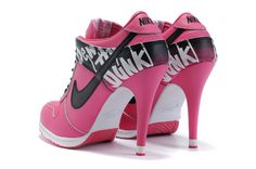 Buy Nike Dunk Heels Low Shoes SB Pink Black White in lower price