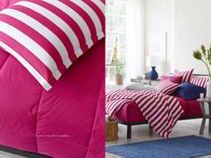 Channel Stripe Percale Bedding