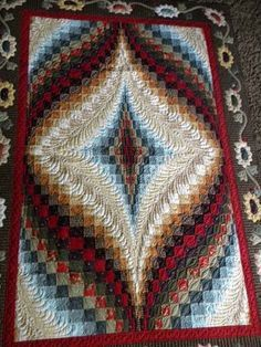 Lovely quilting on this bargello quilt
