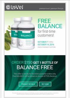 New customer promo!! Le-Vel is BOOMING! lillypr.le-vel.com Esta oferta termina en octubre 14 2016 Al hacer tu primer pedido de de los 3 pasos recibes gratis el Balance. Entra lillypr.le-vel.com