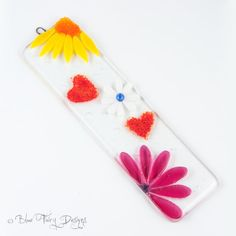 Woodstock Fused Glass Wall/Window Hanging by BlueFairyDesigns, £14.95