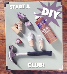"""""""Supper Club? Book Club? Nah.  Why not get together to do what we all love to do: gorge on chardonnay and chocolate while creating some crafty DIY projects?"""""""