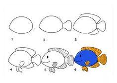 kolay hayvan çizimleri — Yandex.Görsel – Deniz Hayvanlarѭ Cizim Teknikleri.