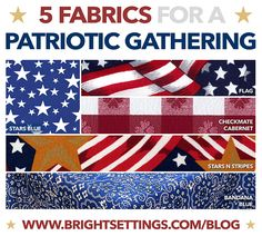 Tablecloth and Table Linen Fabrics for a Patriotic 4th of July Party