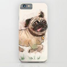 The Furminator pug watercolor like art iPhone & iPod Case