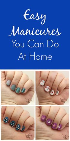 5 Easy Manicures That You Can Do Yourself #BeautyQtips #CleverGirls