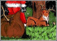 Corso Comicamente 2013/2014. Tema: Babbo natale fa qualcosa di sadico alle renne. Grazie a #Ruggine che ha tanta pazienza :) #Raj #Rudolf #serialkiller #santa