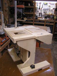 Gabarito e mesa de tupia para junta de braço e corpo_Dovetail Jig