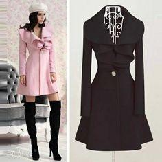 Outono e inverno de lã casaco de lã outerwear longo plissado projeto de lã de abertura de cama marca colarinho novo casaco de lã Frete grátis US $32.80