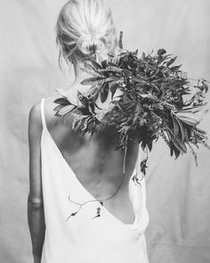 Floral Elegance - black & white fashion photography