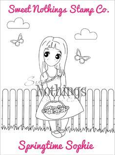 Sweet Nothings Stamp Co.- Springtime Sophie