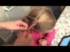 Lace braid and bun combo hairstyle by Two Little Girls Hairstyles - YouTube