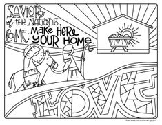 An Illustrated Advent for Families is the family advent devotional resource you've been looking for. Devotions, coloring pages, and DIY Advent wreaths! Online Coloring Pages, Printable Coloring Pages, Coloring Pages For Kids, Coloring Sheets, Coloring Books, Kids Christmas Coloring Pages, Preschool Coloring Pages, Advent Scripture, Christmas Face Painting